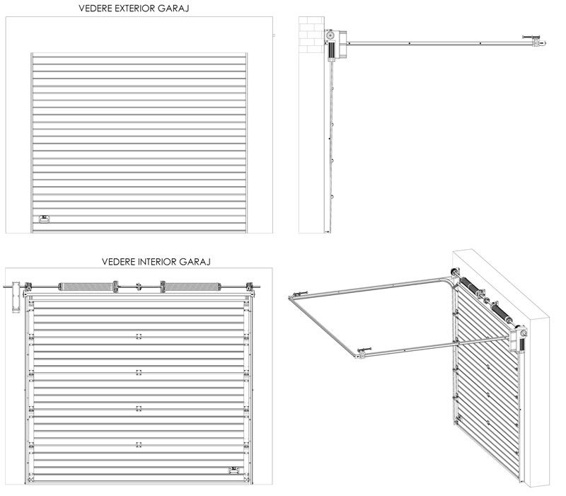 Dimension porte garage standard for Porte de garage mca