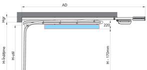 Sistem de culisare DN (Down). Arcurile sunt amplasate sub sina de culisare