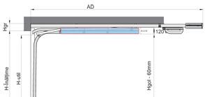 Sistem de culisare SD - arcurile sunt amplasate in lateralul sinei de culisare